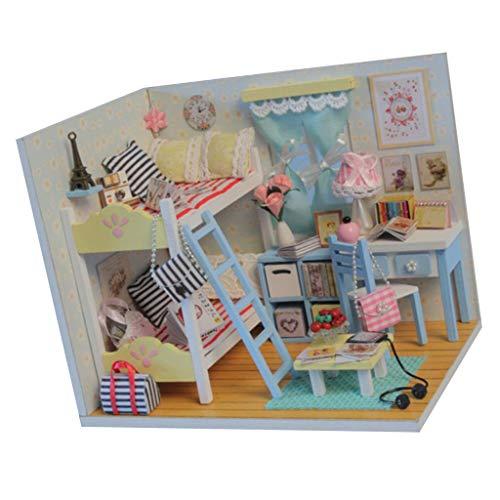 perfeclan 1/24 Casa de Muñecas Kit de Casa de Bricolaje en Miniatura con Muebles Gran Regalo de Arte N. ° 2
