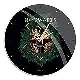 Orologio da parete con licenza ufficiale Harry Potter, lucido, opaco, silenzioso, design unico, lancette in metallo laccato, 30,5 cm (12')