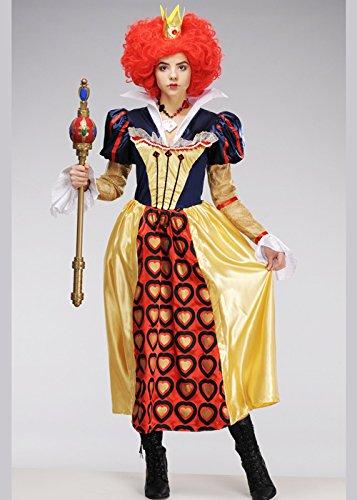 Magic Box Alice im Wunderland die rote Königin der Herzen Kostüm Small (UK 8-10)