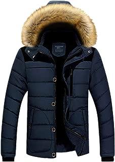 WEI HUI Men's Plus Size Plus Velvet Thick Warm Cotton Coat Down Cotton Casual Jacket