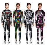 Adosdnn - Mono de disfraces para Halloween, para disfraz de esqueleto, diablo, vampiro, carnaval, vestido de cráneo (color 5, tamaño: XL-grande)