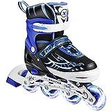 Hikole Patines en línea, patines ajustables con ruedas iluminadas, 2...