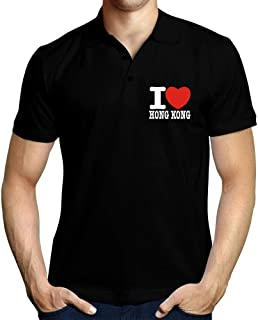 I Love Hong Kong Bold Font Polo Shirt