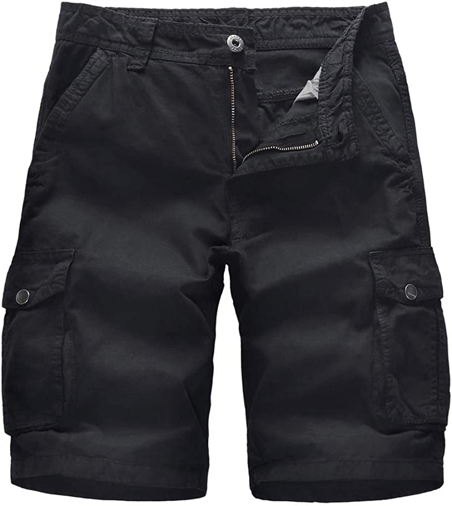 MODOQO Men's Casual Cargo Short Multi Pockets Outdoors Beach Trouser Sweatpants