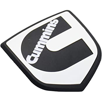 2pcs Cummins logo 3D badge Stickers Emblems Door Tailgates Nameplate Letter Fender Decals Black Red