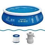 Jilong Marin Blue Rundpool Set Ø360x84cm Quick-Up Swimming Pool Fast-Set inkl. Pumpe...