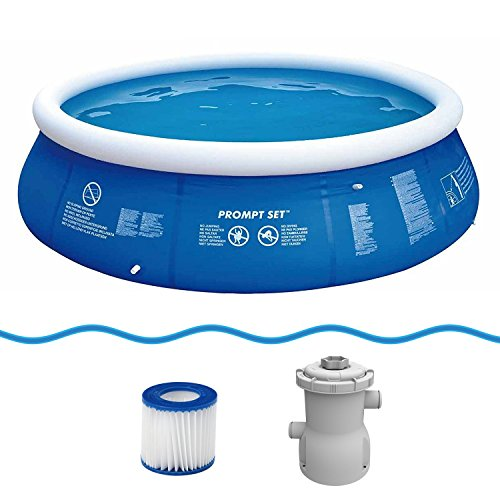 Jilong Marin Blue Rond zwembad, set Ø360x84cm, Quick Up Swimming Pool Fast-Set incl. pompfilterpatroon