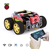 Adeept AWR 4WD WiFiスマートロボットカーキット、Raspberry Pi 4/3モデルB+/B/2B DIYロボットキット