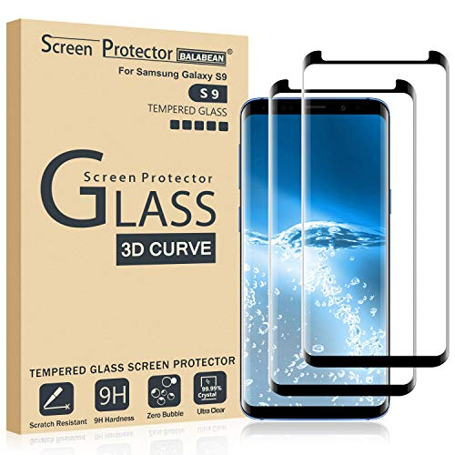 (2 Pack) Galaxy S9 Screen Protector 3D Curved Glass, [Case Friendly] [Bubble Free] Ultra Thin HD Clear 9H Hardness Anti-Scratch Crystal Clear Screen Protector for Samsung Galaxy S9 (NOT S9 Plus)