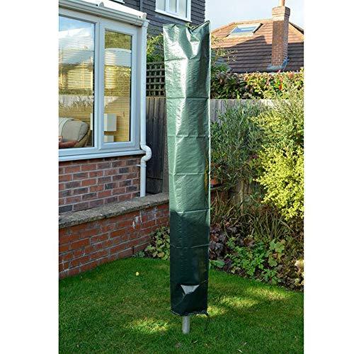 PJDH Sonnenschirm Schutzhülle, Wasserdicht Sonnenschirm Schutzhülle 2 m Durchmesser Abdeckhauben für Sonnenschirm 600D Oxford-Gewebe PVC-Beschichtung, Grün 160x24x24cm