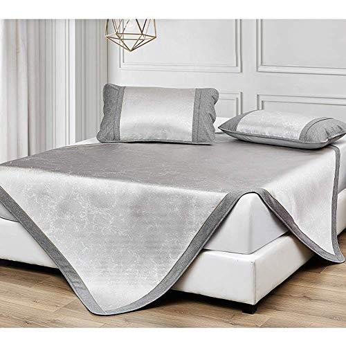 ZXL Verkoelende matras gemaakt van ijszijde, matrasbeschermer, gewatteerd, voor klimaatbedmatrassen, klimaatbed, opvouwbaar, 2 maten, 5 stijlen (kleur: C, maat: 150 x 200 cm)