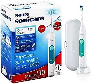 بسته مسواک برقی Philips Sonicare® با کیس Smoocu و شارژ داک - مسواک سفید کننده صوتی با تایمر هوشمند و 3 تنظیمات شدت - ارتودنسی و روکش - ایمن