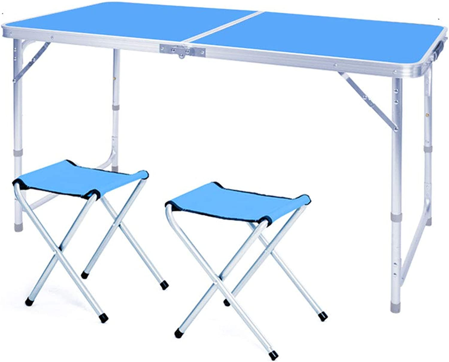 NJLC Folding Small Table, Simple Portable Folding Side Table Dining Camping Party Half Table,bluee,XS