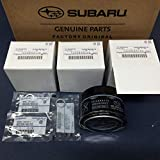 Subaru WRX Motor Oil - Subaru Engine Oil Filter & Crush Gasket (3 Pack) 2015-2018 WRX 2.0 15208AA170 OEM