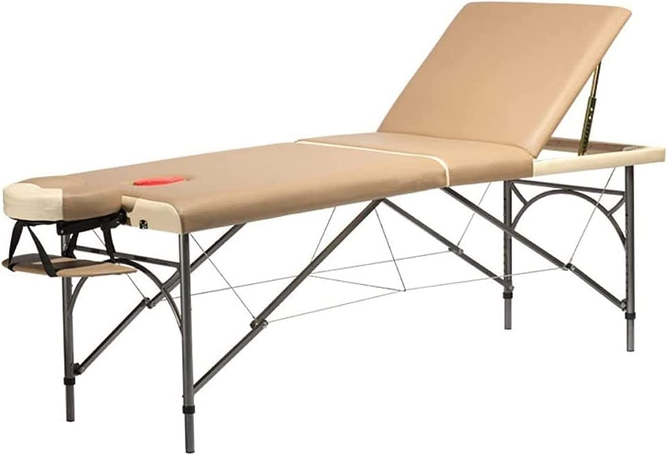 ELXSZJ XTZJ Massage Table All items in the store Spa Bed 3 Portable Leg Ranking TOP7 Sections Wooden
