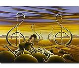 XQWZM Wandkunst Bild Poster inspiriert, Salvador Dali Kunst