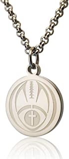 Pendant Sports Luke 1:37 Athletes Necklace Crafted in Stainless Steel and Presented in a Black Velvet Box. Baseball, Football, Hockey, Racing, Soccer, Basketball & Volleyball.