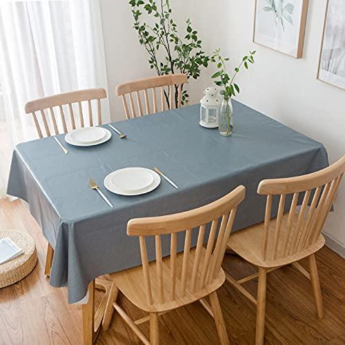 NTtie Transpirable, Aislamiento Térmico, Restaurante,Cocina, Cafetería, Mantel de Jardín Mesa de PVC de Color sólido a Prueba de Agua y Aceite