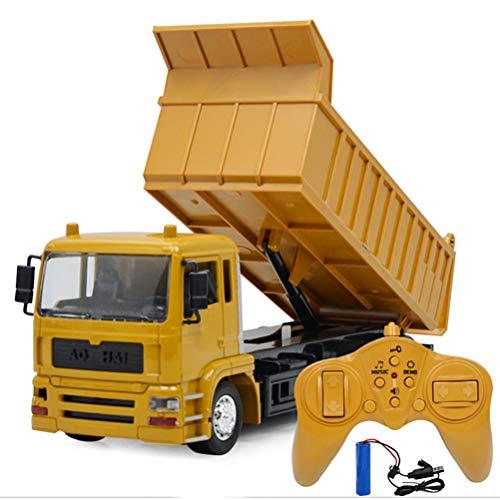 Rc Kipper 8 Kanal Muldenkipper Tieflader Truck 1:24 mit 2,4 GHz RC Ferngesteuert, Baufahrzeuge LKW RC...