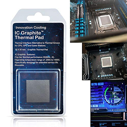 Innovation Cooling LLC IC - Almohadilla térmica de Grafito 30 X 30