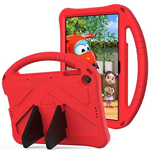 QYiD Funda para Huawei MediaPad T3 10, Anti-Caída Ligero EVA Cubierta Protectora Carcasa para niños con Soporte para Huawei MediaPad T3 10 9.6 Pulgadas, Rojo