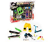 Grip & Tricks - Coffret 5 produits - Finger Scooter - Mini Trottinette - Finger Mini Skates - Roller BMX - Dimensions: 25 X 20,5 X 5 cm
