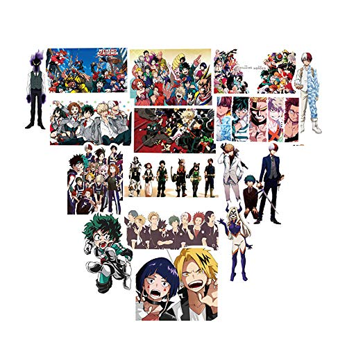 Tuotuo My Hero Academia Anime Cartoon Stickers 50 stuks herhaald Wees niet, waterdicht vinyl stickers, snowboard skateboard laptop auto skateboard bagage fiets autosticker hippie decals