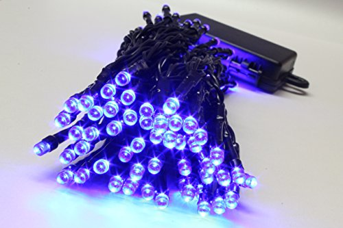 100 Blue LED Outdoor Waterproof Battery 8 Multi-Function with Timer String Lights Xmas Garden Christmas Party Fairy