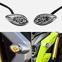 Ship from USA Local Warehouse, You will get it soon Perfect Accessories for 2014-2018 Honda Grom, with 2 wires Super Bright, easy to install. Installed on front or rear Turn Signals--Transparent lens with 12 Bright Amber LEDs Package included: 2PCS T...