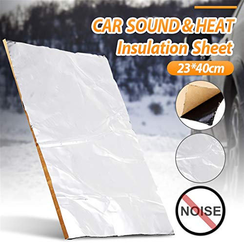 1pc 2mm 23 * 40 cm sábanas Paquete de vagones Vagabundos para amortiguar a Prueba de Sonido Mujer Mater Sonido Aislamiento térmico Algodón (Color Name : Silver)