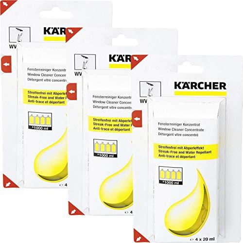 Kärcher Fensterreiniger Konzentrat 4 x 20ml, 3er Pack (12 x 20ml)