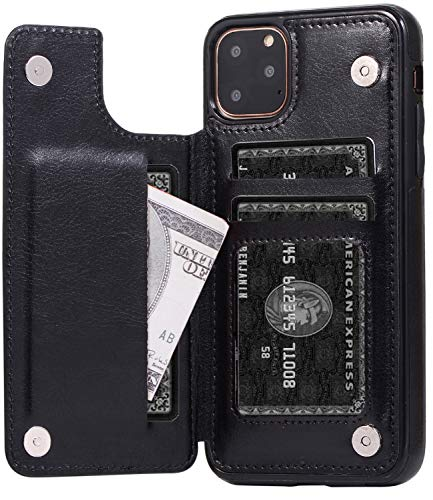 xhorizon iphone 5 cases Wallet Case iPhone 11/ iPhone 11 Pro /11 Pro Max Credit Card Holder Magnetic Snap PU Leather Case Kickstand Flip Cover
