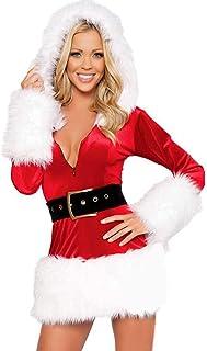 edb2c1584 POLP Ropa de Dormir Navidad Vestidos Peludo Malla Erotica Ropa Interior  para Mujer Lencería Sexy Pijamas