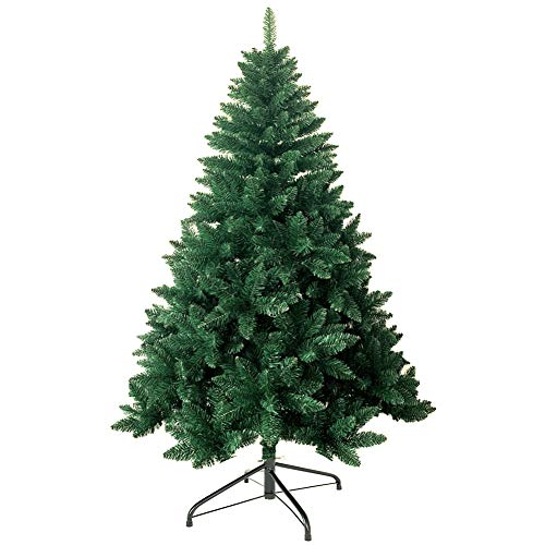 shine future Künstlicher Weihnachtsbaum,Weihnachtsbaum Künstlich 210 cm(6.9ft),Weihnachtsbaum mit 1200 Spitzen,Tannenbaum Künstlich Christmas Tree mit Metall Ständer,PVC Dekobaum Christbaum