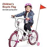 boastvi Kinder Fahrradfahne Sicherheitsfahne Sicherheit Dreieckige Flagge mit Halterung für Gokart Roller Fahrrad Wimpel Fahne Neon Jungen Mädchen