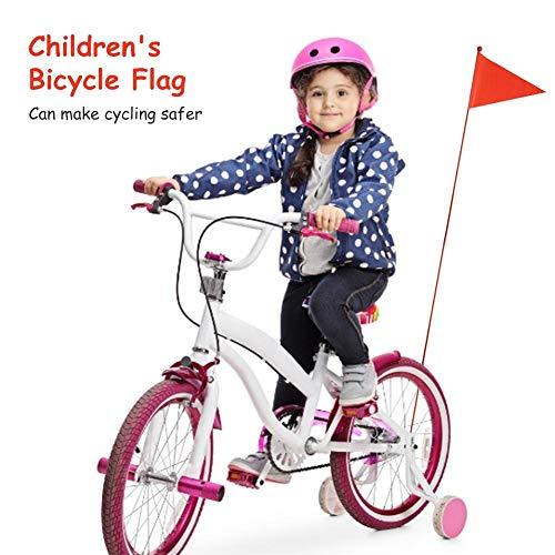 Opfury Fahrradfahne Wimpelstange Fahrrad Wimpel Sicherheitswimpel Kinder Fahne Sicherheit Dreieckige Flagge für Jungen Mädchen Radfahren