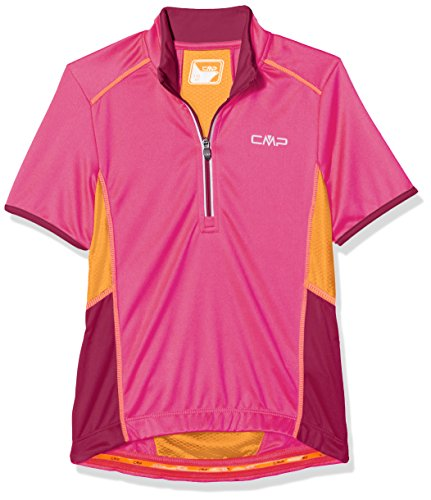 CMP Jungen T-shirt Bike, Hot Pink, 140, 3C89554T