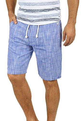 Blend Bones Herren Leinenshorts Kurze Leinenhose Bermuda In Leinen-Optik Aus 100% Baumwolle Regular Fit, Größe:3XL, Farbe:Marine Blue (74635)