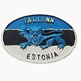Imán para nevera 3D de la capital de Estonia de Tallin, regalo de recuerdo, decoración para el hogar y la cocina, pegatina magnética para nevera de Estonia