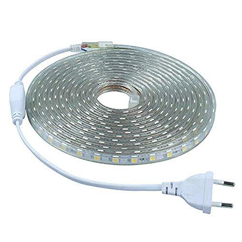 Tira LED 1 Metro SMD 2835 · Tiras LED Flexibles Impermeables IP67 con 120 Luces Leds · Por Metro 24W y 1680 Lm.+ 2 Grapas + Tapón · 3000K Blanco Cálido · Tamaño: 1000x15x5mm · 2 Años de Garantía