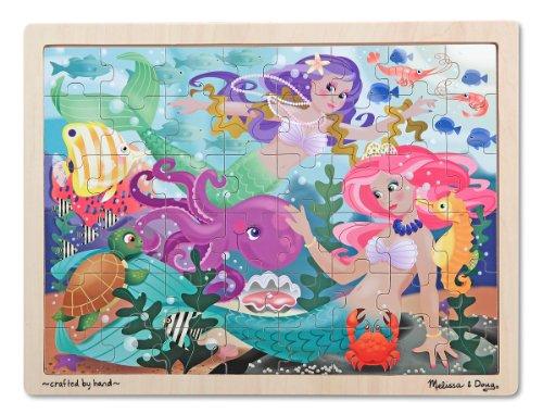 Melissa & Doug - 12911 - Puzzle En Bois - Fantaisie De Sirènes