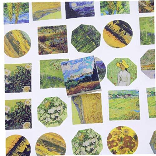 45 Pc/Porción De Meet Van Gogh Mini Etiqueta Engomada De Papel De La Decoración DIY del Álbum Diary Scrapbooking Etiqueta Autoadhesiva