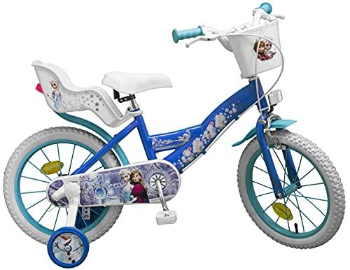 "TOIMS Girls Pik&Roll Frozen Kinderfahrrad 16\"", blau"