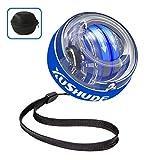 XUSHUDE Energy Ball Bola giroscopio de Ejercicio Autostart Rotations Ball LED Light PowerMuñeca ball ,para Entrenar la Mano y Brazos accesorios de fitnessde