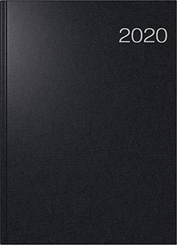 rido/idé 702750390 Buchkalender Conform (1 Seite = 1 Tag, 210 x 291 mm, Balacron-Einband, Kalendarium 2020) schwarz