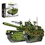 TASS Technic Type 99 Tanque Modular 1600pcs WW2 Military Series armas de combate chinas Modelo Compatible con Lego Technic