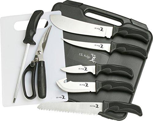 Elk Ridge Outdoormesser Hunter Hunting Kinfe Set Komplett, Outdoor Messer Set BIG, ELKR-1092