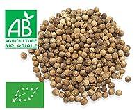 ✅ PRODUIT BIOLOGIQUE : Graines de coriandre issues de l'Agriculture Biologique. Le parfum de la graine de coriandre est subtilement orangé avec une légèrement amertume qui se rapproche des baies de Sil-Timur népalaises. Peut s'utiliser également pour...
