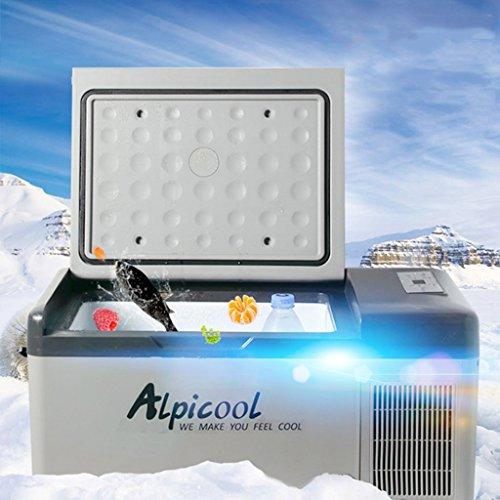 MUMUMI Energía Ahorro de Automóvil Compresor de Coche Refrigerador Mini Congelador Dormitorio Dormitorio Fast Refrigeración Caja Al Aire Libre Anti-Lluvia Portátil Refrigerador de Doble Uso 12V24V220