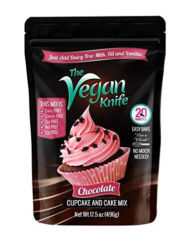 The Vegan Knife Gluten Free & Vegan Cupcake and Cake Mix Chocolate Flavor